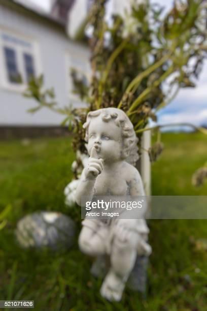 Angel Statue, Strandakirkja Church, Reykjanes Peninsula, Iceland