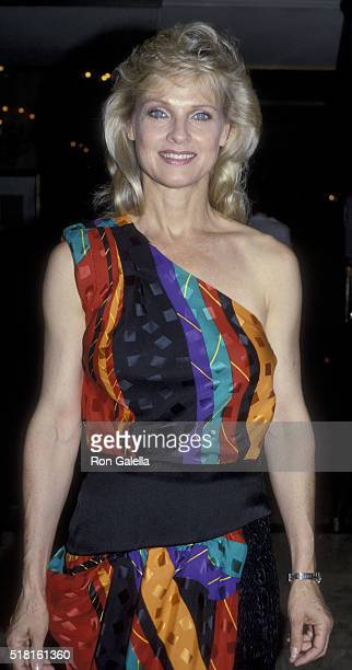 Angel Tompkins attends Focus Magazine Party on August 7 1986 at Le Bel Age Hotel in Hollywood California
