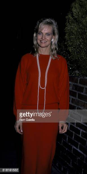 Angel Tompkins attends The Life Organization Fundraiser on February 11 1986 at Kathy Gallagher's in Los Angeles California