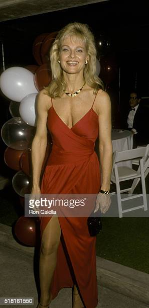 Angel Tompkins attends the screening of The Naked Cage on February 22 1986 at Cannon Studios in Culver City California