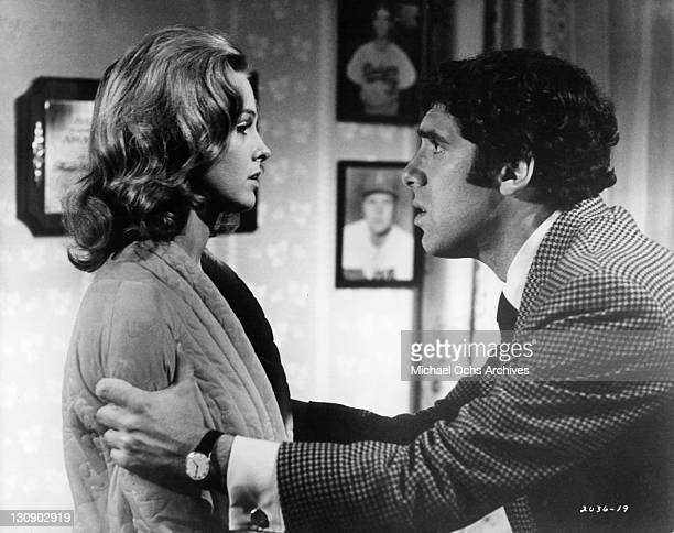 Angel Tompkins is confronted by Elliott Gould in a scene from the film 'I Love My Wife' 1970