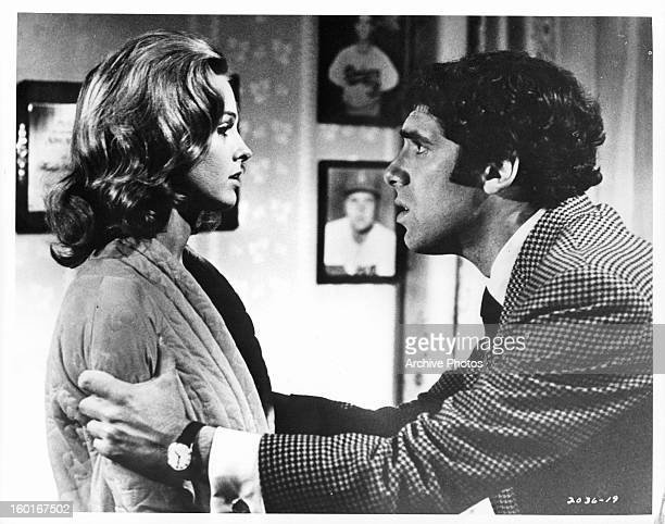 Angel Tompkins is grabbed by Elliott Gould in a scene from the film 'I Love My Wife' 1970