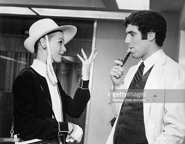 Angel Tompkins meets prosperous young doctor Elliott Gould in a scene from the film 'I Love My Wife' 1970