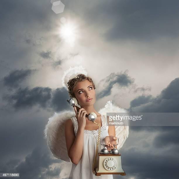 Angel mit Telefon