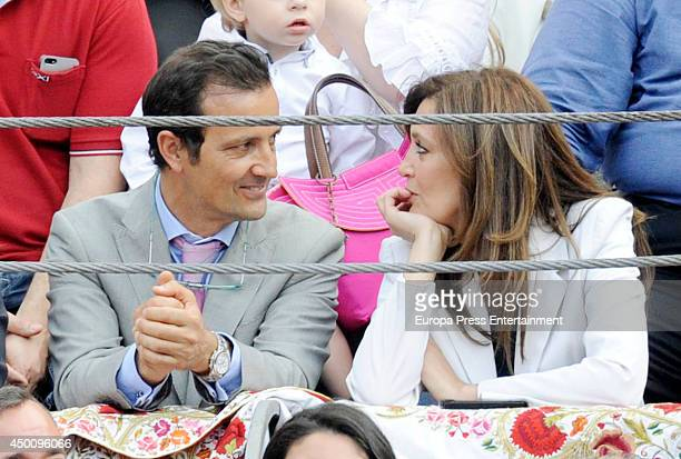 Angel Villamor and Yolanda Gonzalez attend San Isidro Bullfighting Fair at Las Ventas Bullring on June 4 2014 in Madrid Spain