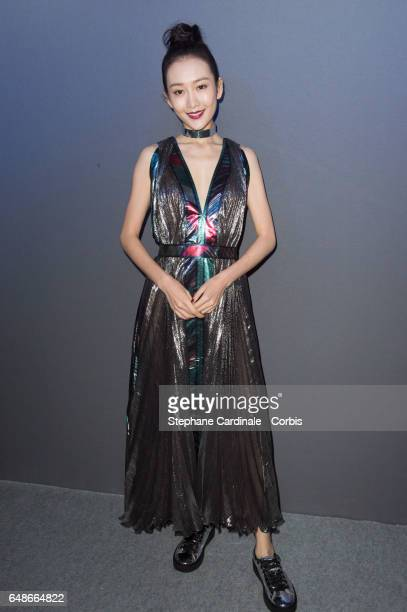 Angel Wang Ou attends the Leonard show as part of the Paris Fashion Week Womenswear Fall/Winter 2017/2018 on March 6 2017 in Paris France