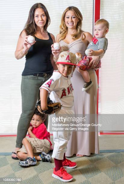 Angel wives Jody Kendrick left and Kristen Weaver with their children from left Tyson Kendrick and Owen Kendrick and Aden Weaver 11months are holding...
