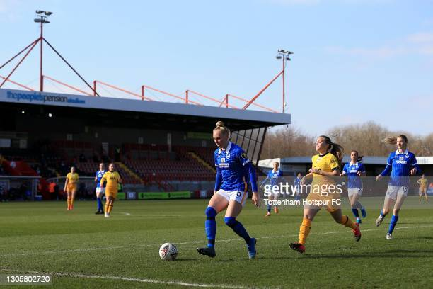 Angela Addison of Tottenham Hotspur and Danique Kerkdijk of Brighton & Hove Albion during the Barclays FA Women's Super League match between Brighton...