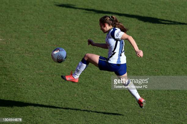 Angela Addison of Tottenham Hotspur scores during the Barclays FA Women's Super League match between Tottenham Hotspur Women and Everton Women at The...