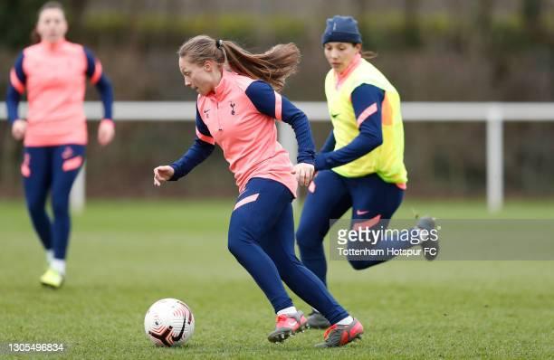 Angela Addison of Tottenham Hotspur Women during the Tottenham Hotspur Women training session at Tottenham Hotspur Training Centre on March 05, 2021...