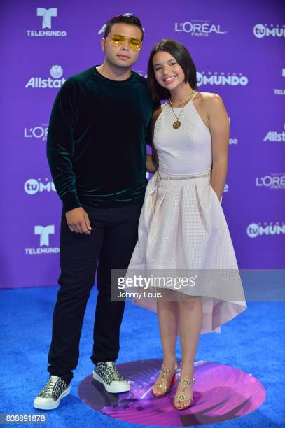 Angela Aguilar and guest arrive at Telemundo's 2017 'Premios Tu Mundo' at American Airlines Arena on August 24 2017 in Miami Florida
