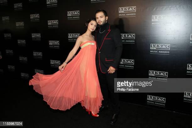Angela Aguilar and Leonardo Aguilar attend the 2019 SESAC Latina Awards on June 05 2019 in Los Angeles California