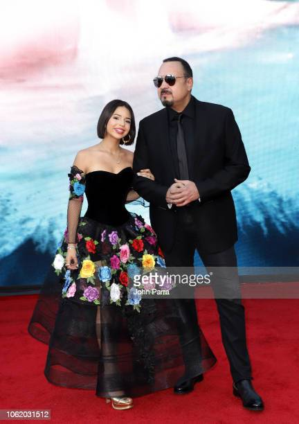 Angela Aguilar and Pepe Aguilar attend the 19th annual Latin GRAMMY Awards at MGM Grand Garden Arena on November 15 2018 in Las Vegas Nevada