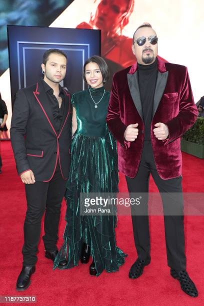 Angela Aguilar and Pepe Aguilar attend the 20th annual Latin GRAMMY Awards at MGM Grand Garden Arena on November 14 2019 in Las Vegas Nevada