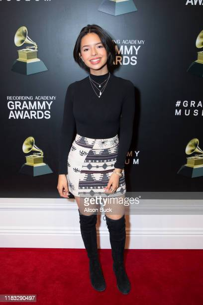 Angela Aguilar attends Latin Floor Ribbon Cutting Program at the GRAMMY Musuem on November 18 2019 in Los Angeles California