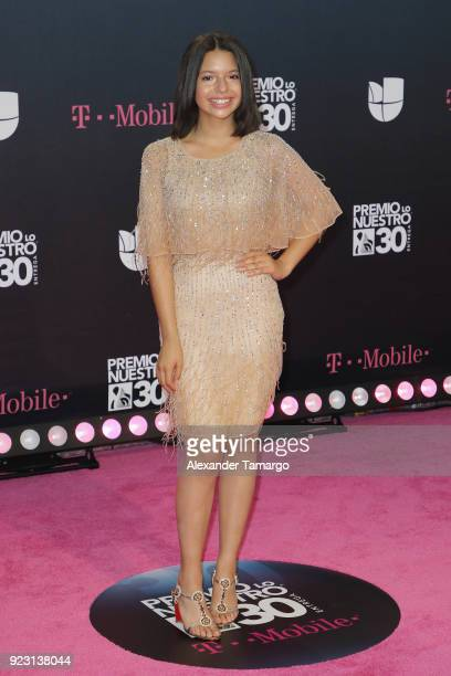 Angela Aguilar attends Univision's 30th Edition Of 'Premio Lo Nuestro A La Musica Latina' at American Airlines Arena on February 22 2018 in Miami...
