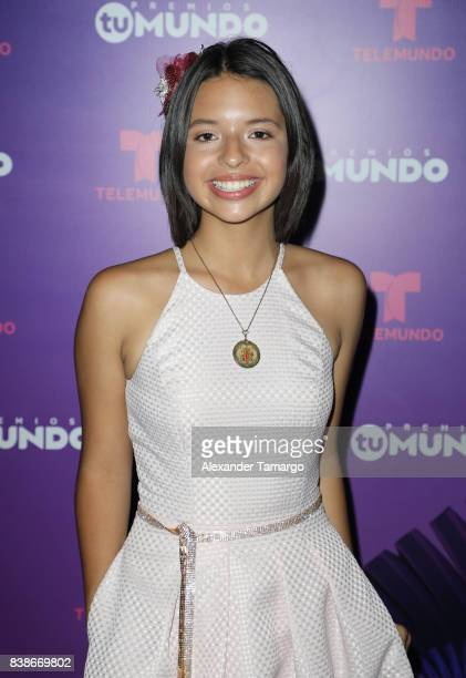 Angela Aguilar is seen in the press room during Telemundo's 'Premios Tu Mundo' at AmericanAirlines Arena on August 24 2017 in Miami Florida