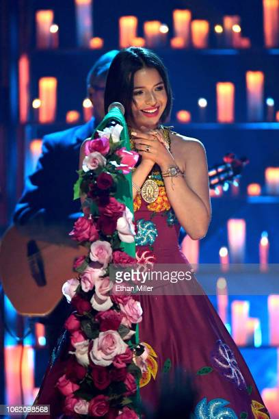 Angela Aguilar peforms onstage during the 19th annual Latin GRAMMY Awards at MGM Grand Garden Arena on November 15 2018 in Las Vegas Nevada