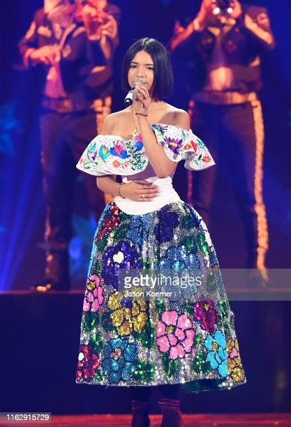Angela Aguilar performs on stage during Premios Juventud 2019 at Watsco Center on July 18 2019 in Coral Gables Florida