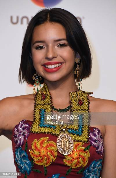 Angela Aguilar poses in the press room during the 19th annual Latin GRAMMY Awards at MGM Grand Garden Arena on November 15 2018 in Las Vegas Nevada