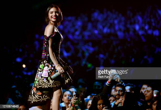 Angela Aguilar speaks onstage during the 2020 Spotify Awards at the Auditorio Nacional on March 05 2020 in Mexico City Mexico