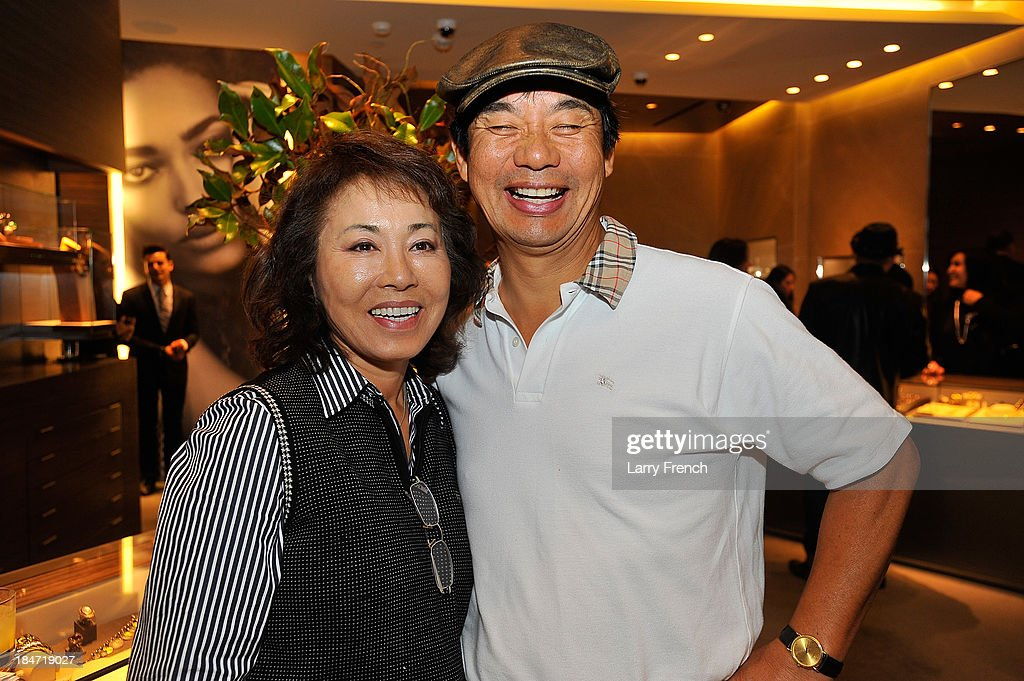 Angela Ahn and Jeff Ahn are seen at the David Yurman Meteorite Launch With Chris Baker on October 15, 2013 in Mclean, Virginia.