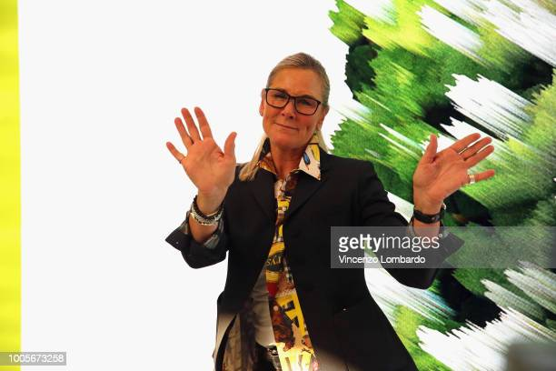 Angela Ahrendts attends the Apple store opening in Milan at Piazza Liberty on July 26 2018 in Milan Italy
