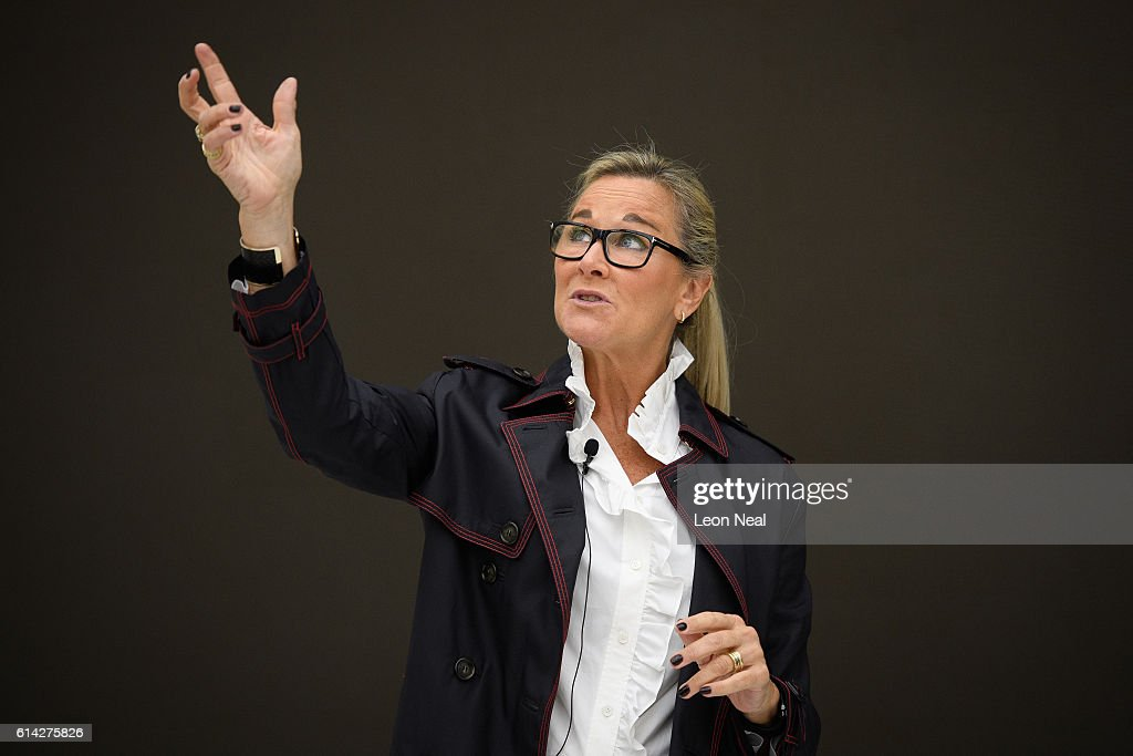 Angela Ahrendts, the Senior Vice President of Retail and Online Stores at Apple Store, addresses guests during the preview of the upgraded Apple store on Regent Street on October 13, 2016 in London, England. Regent Street was Apple's first store in Europe, and has handled more than 60 million customers over the past 12 years, and will be the first store in Europe with the new design concept.