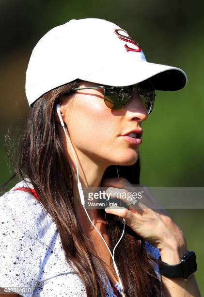 Angela Akins fiance of Sergio Garcia of Spain looks on during the second round of THE PLAYERS Championship at the Stadium course at TPC Sawgrass on...