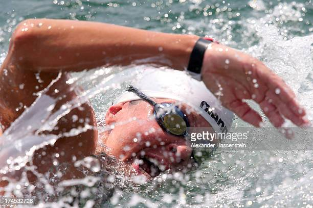 Angela Alexandra Maurer of Germany competes during the Open Water Swimming Women 25k race on day eight of the 15th FINA World Championships at Moll...