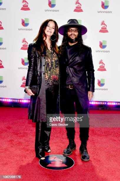 Angela Alvarado and Draco Rosa attend the 19th annual Latin GRAMMY Awards at MGM Grand Garden Arena on November 15 2018 in Las Vegas Nevada
