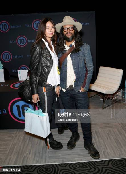Angela Alvarado and Draco Rosa attend the gift lounge during the 19th annual Latin GRAMMY Awards at MGM Grand Garden Arena on November 13 2018 in Las...