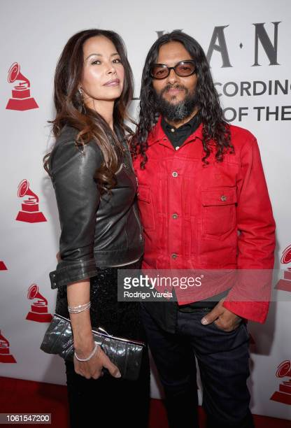 Angela Alvarado and Draco Rosa attend the Person of the Year Gala honoring Mana during the 19th annual Latin GRAMMY Awards at the Mandalay Bay Events...
