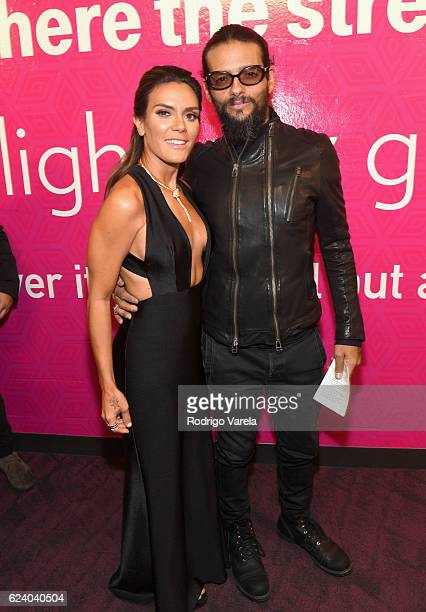 Angela Alvarado and singer Draco Rosa attend The 17th Annual Latin Grammy Awards at TMobile Arena on November 17 2016 in Las Vegas Nevada
