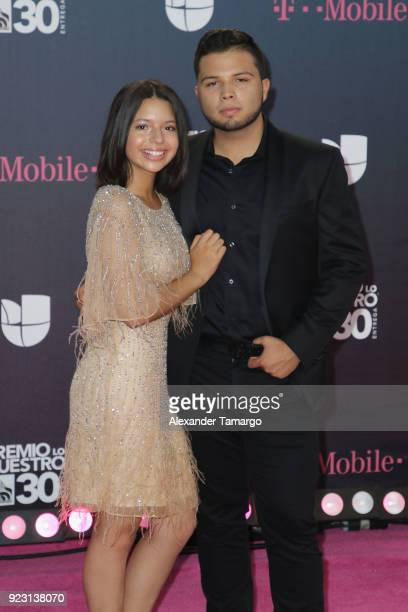 Angela and Leonardo Aguilar attend Univision's 30th Edition Of 'Premio Lo Nuestro A La Musica Latina' at American Airlines Arena on February 22 2018...