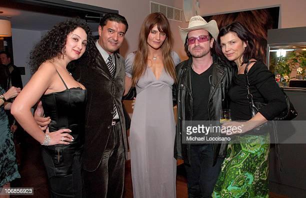 Angela Arabo Jacob Arabo Helena Christensen Bono and Bono's Wife Ali Hewson