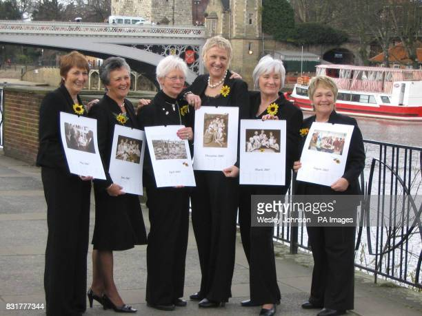 Angela Baker Christine Clancy Beryl Bamforth Tricia Stewart Lynda Logan and Ros Fawcett of the Rylstone and District Women's Institute hold their...