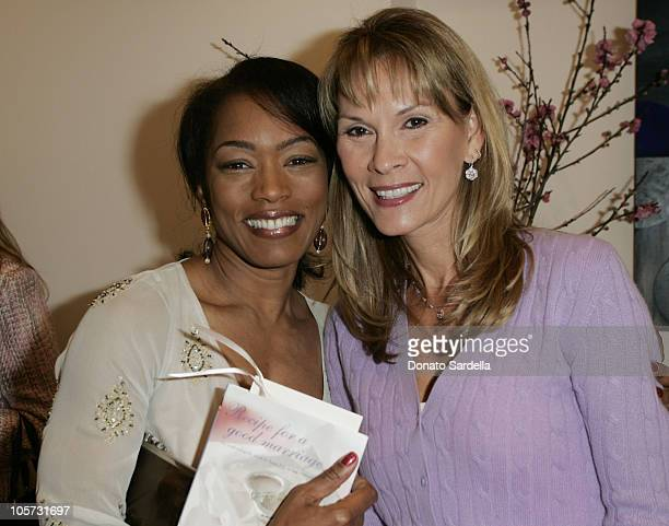 Angela Basset and Cheryl Saban during Kelly and Martin Katz Join Irena and Mike Medavoy to Celebrate the Launch of Cheryl Saban's Newest Book Recipe...