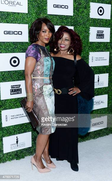 Angela Bassett and Chaka Khan attend 7th Annual ESSENCE Black Women In Hollywood Luncheon February 27 2014 in Beverly Hills California