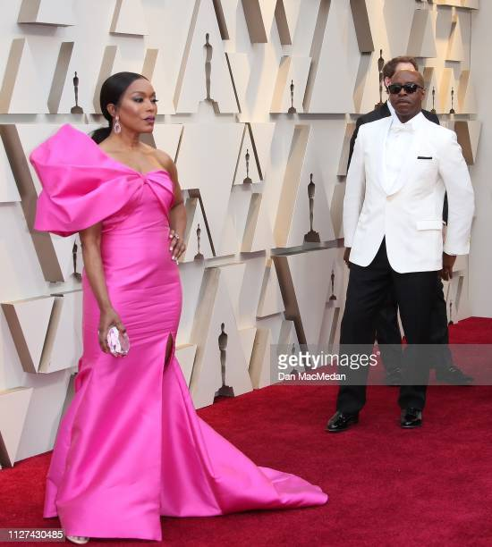 Angela Bassett and Courtney B Vance attend the 91st Annual Academy Awards at Hollywood and Highland on February 24 2019 in Hollywood California