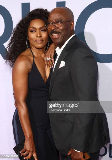 Angela Bassett and Courtney B. Vance attend the Netflix Premiere of OTHERHOOD at the Egyptian Theater on July 31, 2019 in Los Angeles, California.
