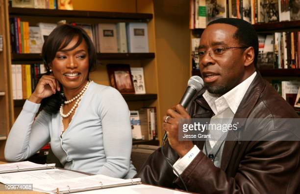Angela Bassett and Courtney B Vance during Angela Bassett and Courtney B Vance Book Signing 'Friends A Love Story' at Eso Wan Books at Eso Wan Books...