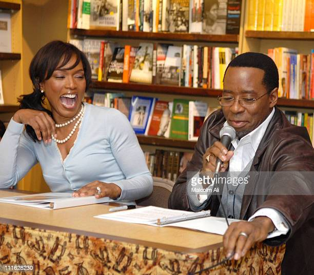 Angela Bassett and Courtney B Vance during Angela Bassett and Courtney B Vance Book Signing 'Friends A Love Story' February 20 2007 at Eso Won...