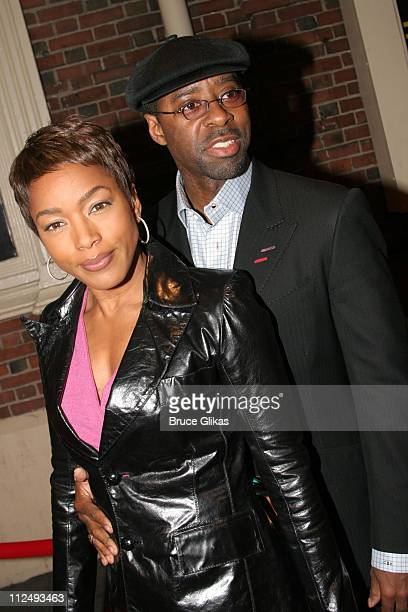 Angela Bassett and Courtney B Vance during 'Julius Caesar' on Broadway Arrivals April 3 2005 at The Belasco Theater in New York City New York United...