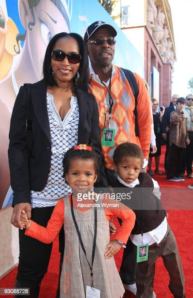 Angela Bassett and Courtney B Vance with children Bronwyn Golden and Slater Josiah at The premiere of 'The Princess And The Frog' held at The Walt...
