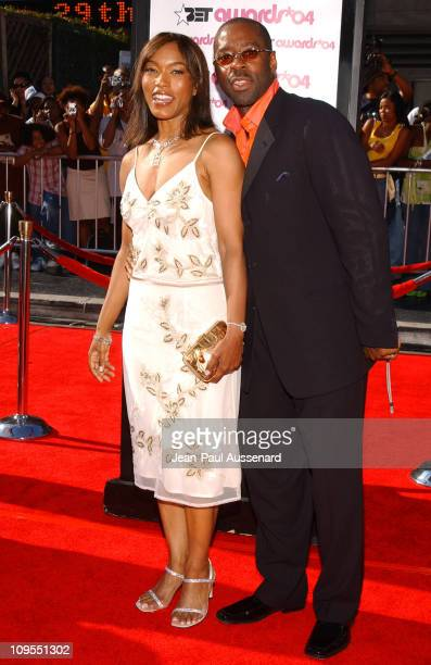 Angela Bassett and Courtney BVance during 4th Annual BET Awards Arrivals at Kodak Theatre in Hollywood California United States