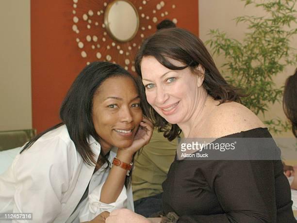 Angela Bassett and Deborah Lippmann at the Jaguar Getaway Suite