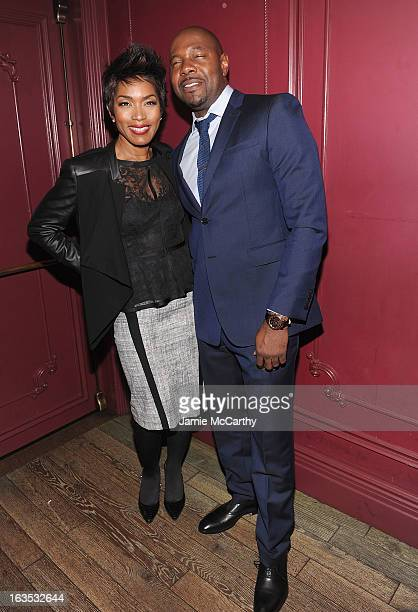 Angela Bassett and director Antoine Fuqua attend the after party for The Cinema Society with Roger Dubuis and Grey Goose screening of FilmDistrict's...