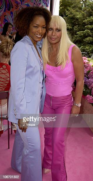 Angela Bassett and Donatella Versace during Versace Luncheon to Benefit Children's Action NetworkWestside Children's Center Sponsored By InStyle...