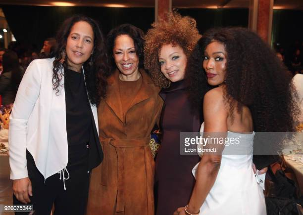 Angela Bassett and guests attend the 2018 Essence Black Women In Hollywood Oscars Luncheon at Regent Beverly Wilshire Hotel on March 1 2018 in...
